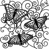 Stencil Flutterby 6 x 6