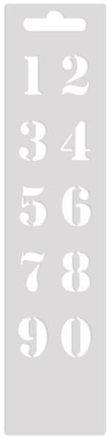 Mini Art Screen Stencil - Numbers