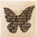 Teresa Collins Wood Mount Stamps - Butterfly Words