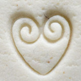 Heart with Double Swirl Stamp