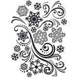 "Snowflake Swirl - Background Embossing Folder 4.25""X5.75"""