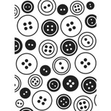 """Buttons Background - Background Embossing Folder 4.25""""X5.75"""""""