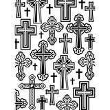 """Crosses - Background Embossing Folder 4.25""""X5.75"""""""