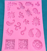 Henna Paisley Swirl Design Mold
