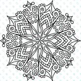 Star Filigree Mandala Silkscreen Stencil