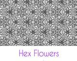 Hex Flowers Large Silkscreen Stencil