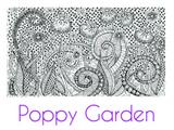 Poppy Garden Large Silkscreen Stencil