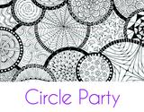 Circle Party Large Silkscreen Stencil