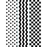 "Simple Pattern- Embossing Folder Borders 1.5""X5.75"" 3/Pkg"