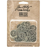 Idea-Ology Metal Number Tokens 31/Pkg