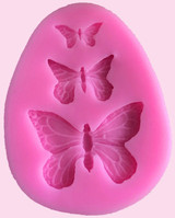 3 Small Butterfly Silicone Mold