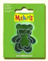 Makin's Clay 3 Piece Cutter Set Teddy Bear