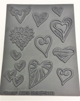 Christi Friesen Texture Stamp Heartz