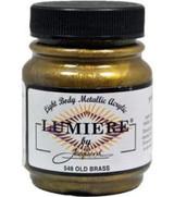 Jacquard Lumiere Metallic Acrylic Paint 2.25oz - Old Brass