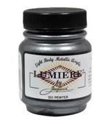 Jacquard Lumiere Metallic Acrylic Paint 2.25oz - Pewter