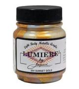 Jacquard Lumiere Metallic Acrylic Paint 2.25oz - Sunset Gold