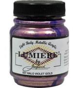 Jacquard Lumiere Metallic Acrylic Paint 2.25oz - Halo Violet Gold
