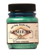 Jacquard Lumiere Metallic Acrylic Paint 2.25oz - Pearlescent Turquoise