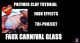 Faux Carnival Glass Tutorial by Kalyana Design