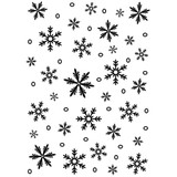 "Snowflake - Background Embossing Folder 5.75"""
