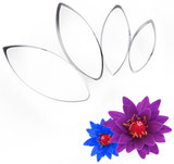 Water Lily Petal Cutter Set 4 pieces
