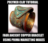 """Ancient Empress"" bracelet - faux metal effect Tutorial Free"