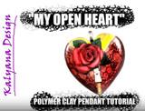 My Open Heart Pendant - Tutorial Free