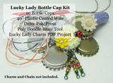 Poly Doodle Bottle Cap Kit - Lucky Lady