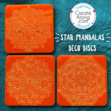Deco Disc Star Mandala stamps and texture pattern designs