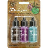 Vintaj Patinas Inks for Metals - Gemstone Fair-Smoky Quatrz/Purple Sapphire/Blue Flourite