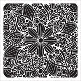 Stencil Doodle Bloom 6 x 6