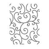 "Gem Swirls - Background Embossing Folder 4.25""X5.75"""