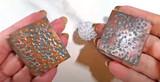 Faux Metal Texture Raspberry Beads