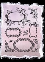 Rubber Stamp Set by Viva Decor - Labeling Fields