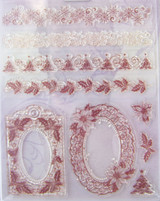 Rubber Stamp Set by Viva Decor - Christmas Borders and Frames