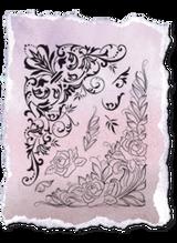 Rubber Stamp Set by Viva Decor - Big Corner Elements