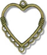 Two Brass Heart Pendants - LP
