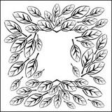 Stencil Leaf Frame 6 x 6