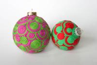 Premo! Extruded Sculpey Doodle Ornaments Tutorial Freebie