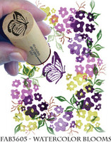 Rubber Stamps Watercolor Blooms Set