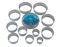 Cutters 11 Round Fluted Tin Set