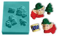 Mini Mold - Elves with Toys
