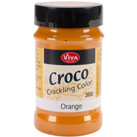 Croco Crackle Lacquer Orange