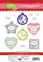 JustRite Rubber Stamps Charming Christmas Set