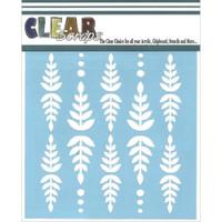 Stencil Fern Leaf 6 x 6