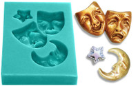 Mini Mold - Comedy Tragedy Masks