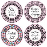 JustRite Rubber Stamps Smile Set Borders and Centers