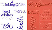 Rubber Stamps - Sentiments