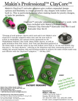 Makin's® ClayCore™ Extruder Adapters