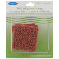 Soap Embossing Stamp Assortment 8/Pkg Squares